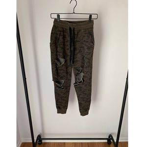 Forever 21 Ripped Camo Sweats